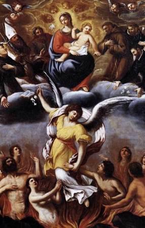 Sainte Catherine de Gênes et le Purgatoire 2Noviembre