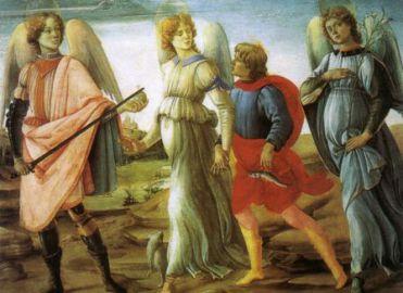 29 septembre : Sts Michel, Gabriel, Raphaël 800px-Filippino_lippi_2C_tobiolo_e_i_tre_arcangeli_2C_1485_2C_torino_2C_galleria_sabauda