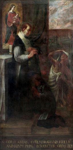Invocation à St Odilon pour la délivrance des âmes du Purgat Odilo_von_Cluny_zu_Allerseelen_17Jh