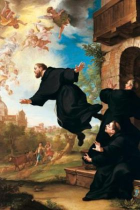 Saints et Saintes du jour - Page 7 San_Giuseppe_da_Copertino_si_eleva_in_volo_alla_vista_della_Basilica_di_Loreto