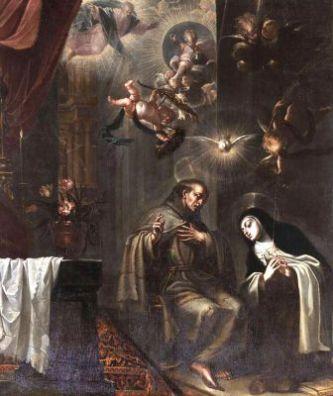 18 octobre : Saint Pierre d'Alcantara San_Pedro_de_Alc_C3_A1ntara_confesando_a_Santa_Teresa_2C_de_Jos_C3_A9_Garc_C3_ADa_Hidalgo__28Museo_d