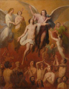 Purgatoire dans le Nouveau Testament St Robert Bellarmin _C3_81nimas_del_Purgatorio_2C_de_Antonio_Mar_C3_ADa_Esquivel__28Museo_de_Bellas_Artes_de_Sevilla_29