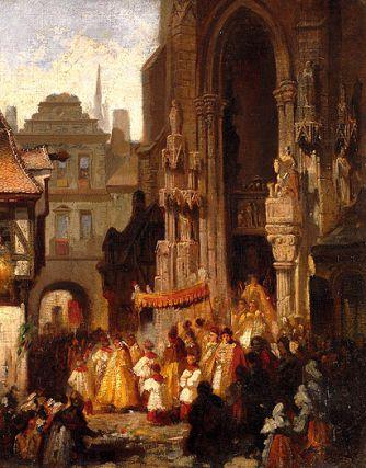 Octave de la Fête-Dieu avec Sainte Faustine Procession-du-saint-sacrement