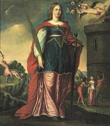 4 décembre : Sainte Barbe la Grande Martyre Sainte-barbe